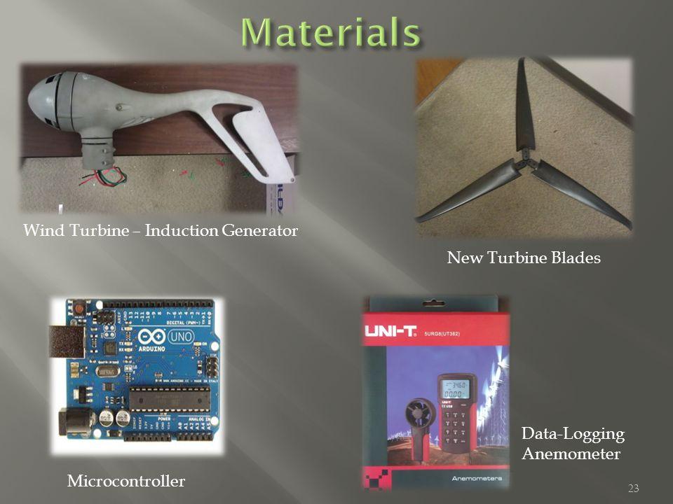 Microcontroller New Turbine Blades Wind Turbine – Induction Generator Data-Logging Anemometer 23