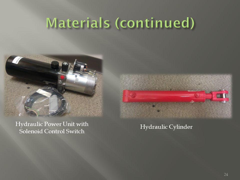 Hydraulic Cylinder Hydraulic Power Unit with Solenoid Control Switch 24