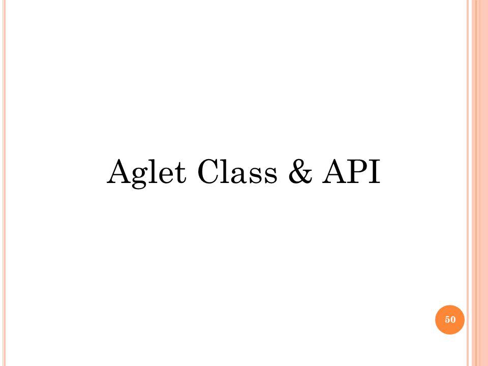 Aglet Class & API 50