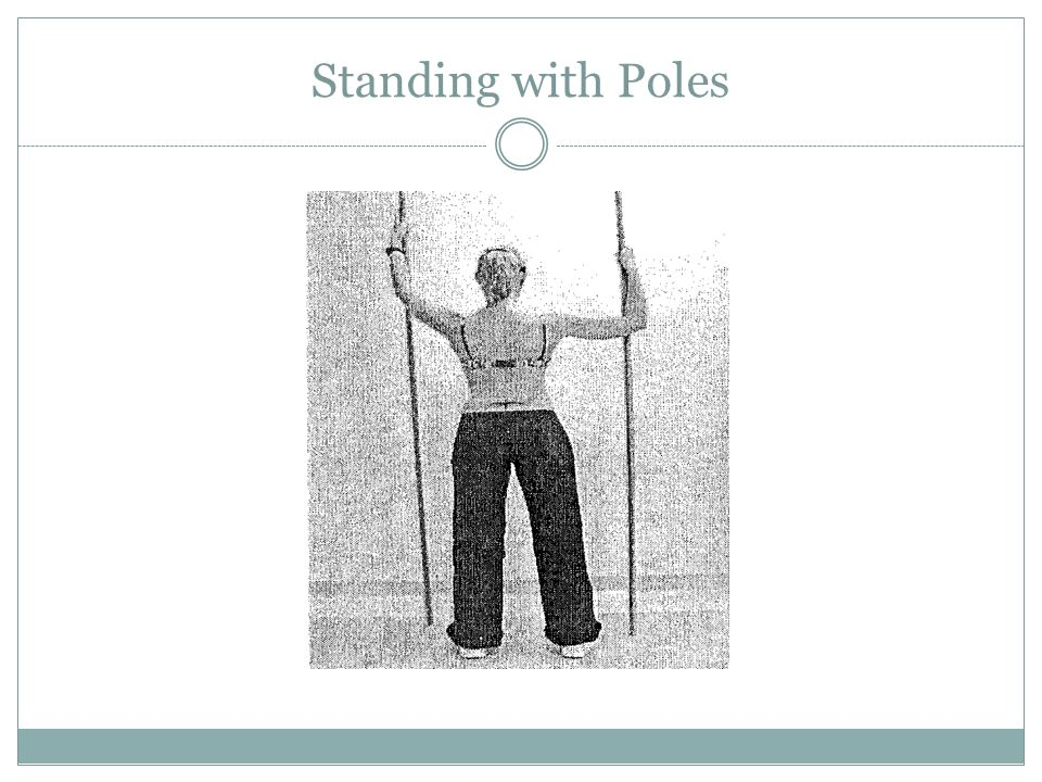 Standing with Poles