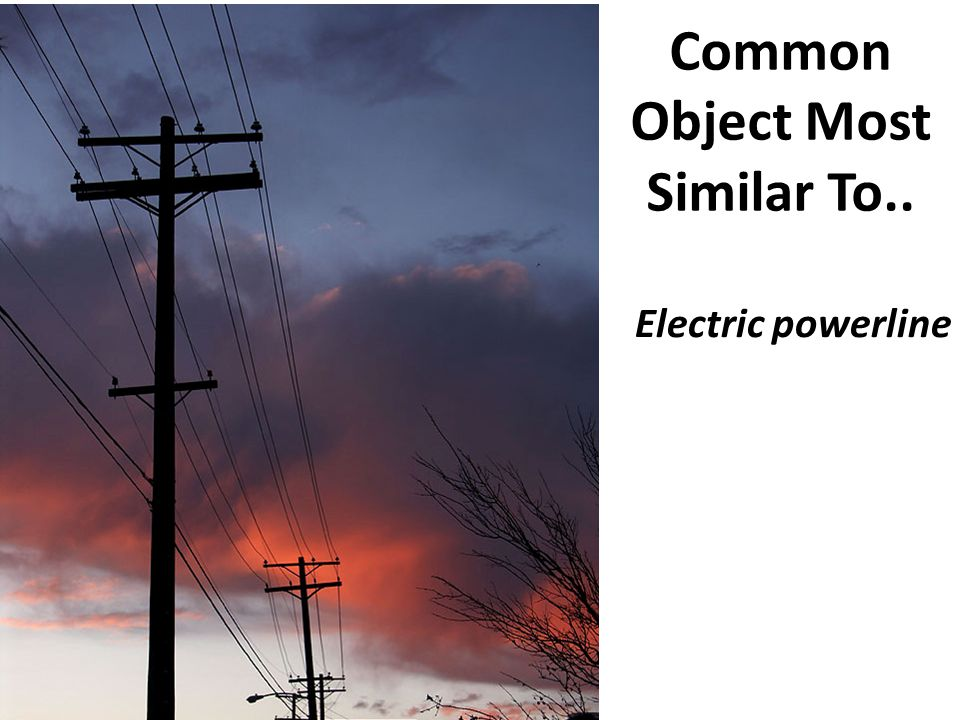Common Object Most Similar To.. Electric powerline