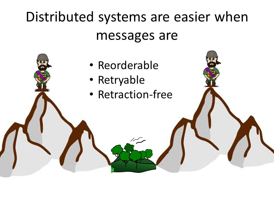 Distributed systems are easier when messages are Reorderable Retryable Retraction-free