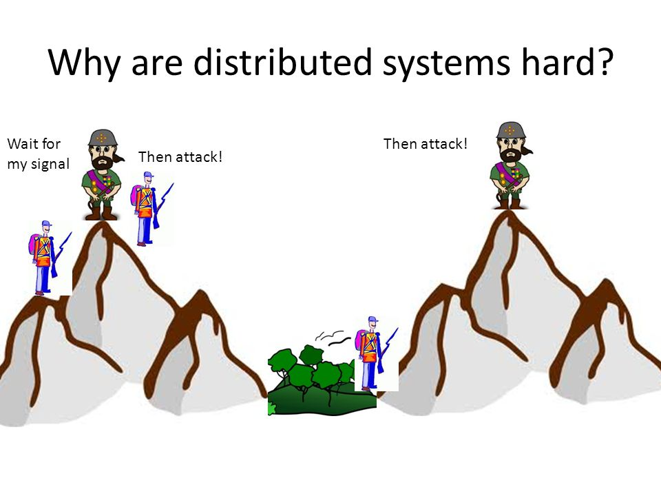 Why are distributed systems hard? Attack! No, WAIT! ?