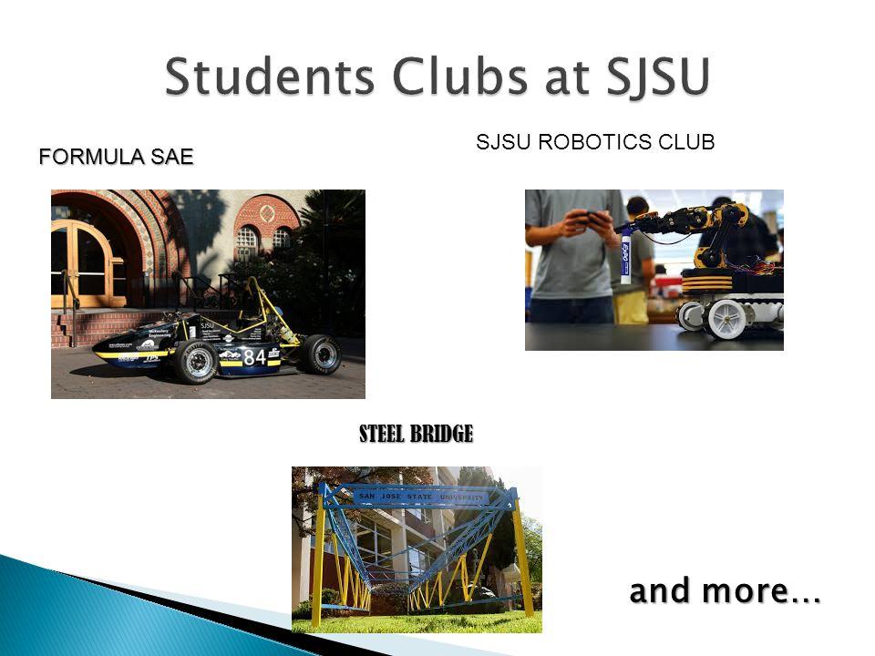FORMULA SAE STEEL BRIDGE SJSU ROBOTICS CLUB and more…