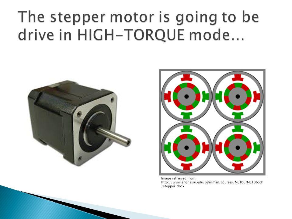 Image retrieved from: http://www.engr.sjsu.edu/bjfurman/courses/ME106/ME106pdf /stepper.docx