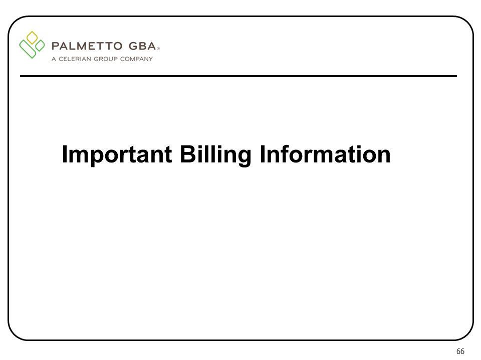 Important Billing Information 66