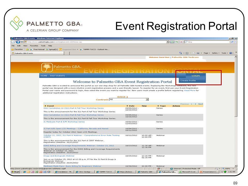 Event Registration Portal 89