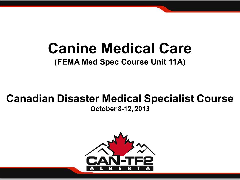UNIT SUMMARY AND EVALUATION CANINE MEDICAL CARE