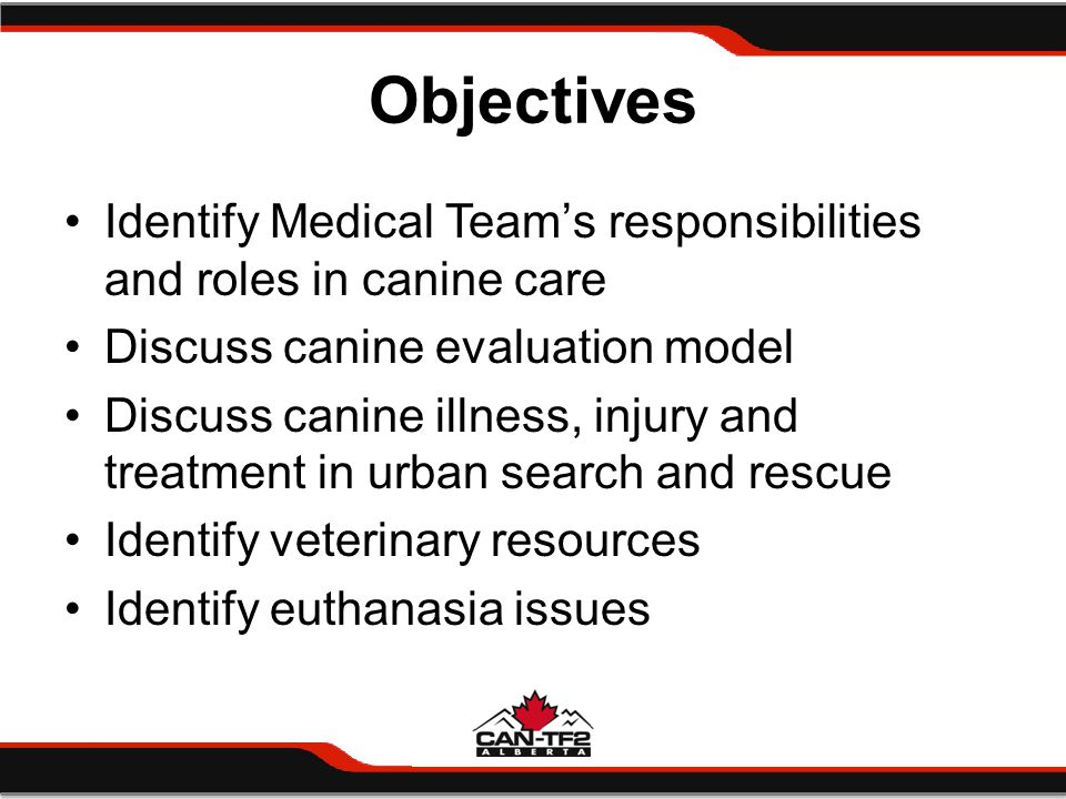 QUESTIONS? CANINE MEDICAL CARE