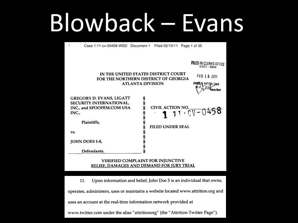 Blowback – Evans