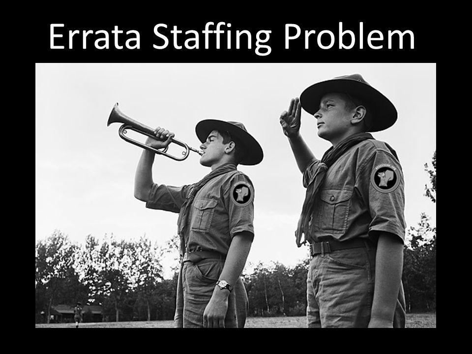 Errata Staffing Problem