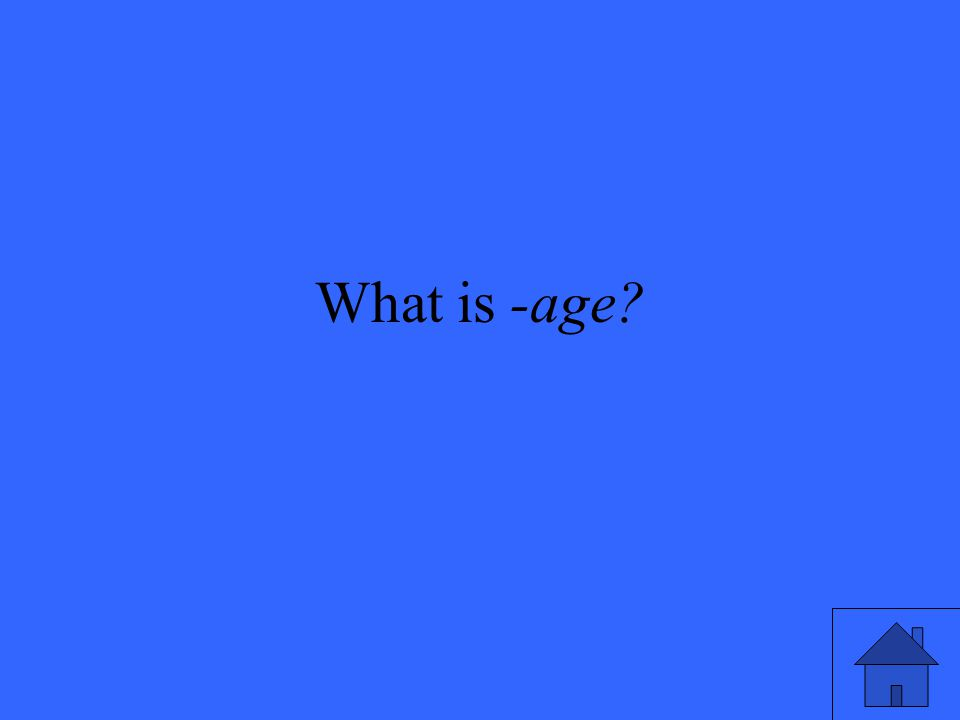 What is -age?