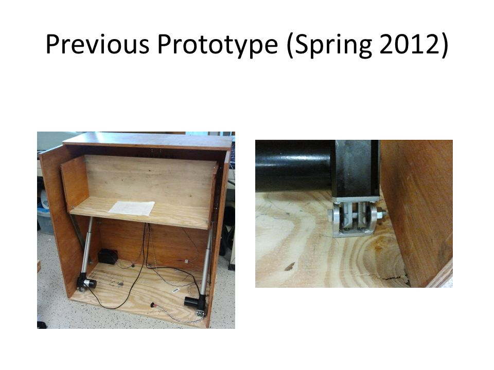 Previous Prototype (Spring 2012)