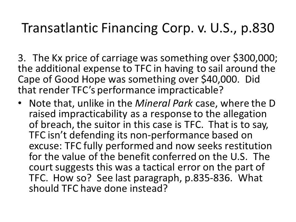Transatlantic Financing Corp. v.