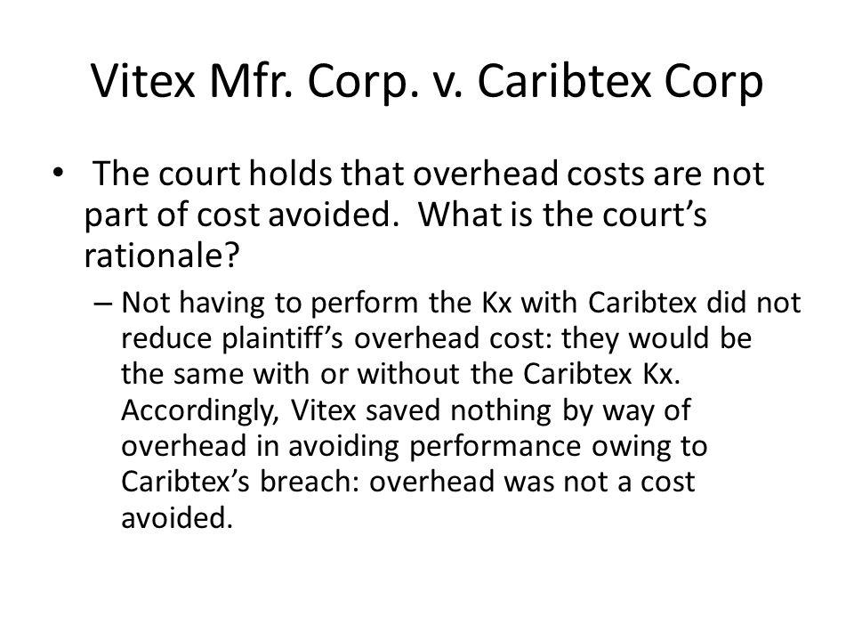 Vitex Mfr. Corp. v.