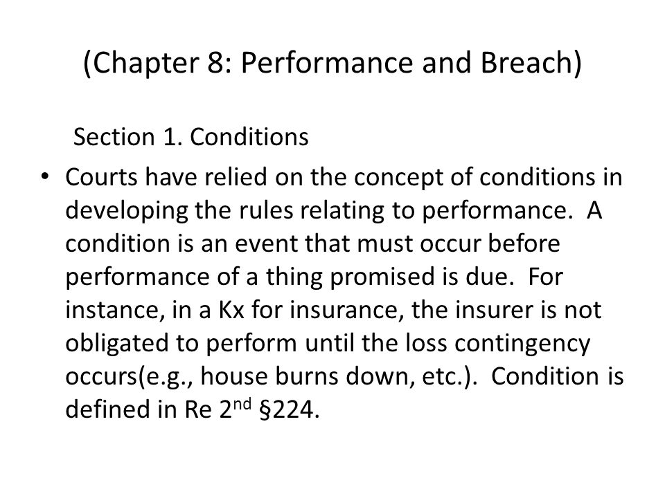 (Chapter 8: Performance and Breach) Section 1.