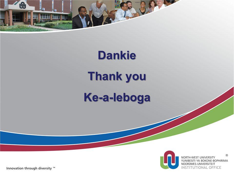Dankie Thank you Ke-a-leboga