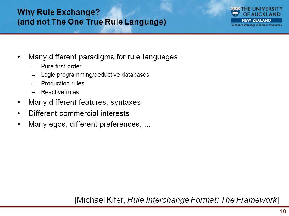 10 Why Rule Exchange.
