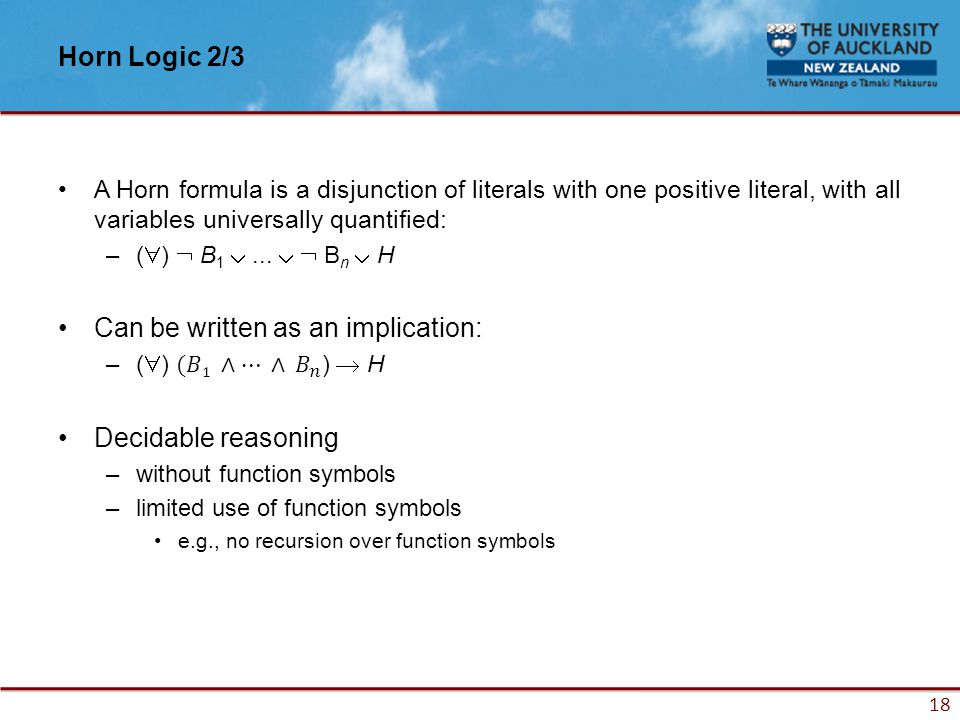 18 Horn Logic 2/3