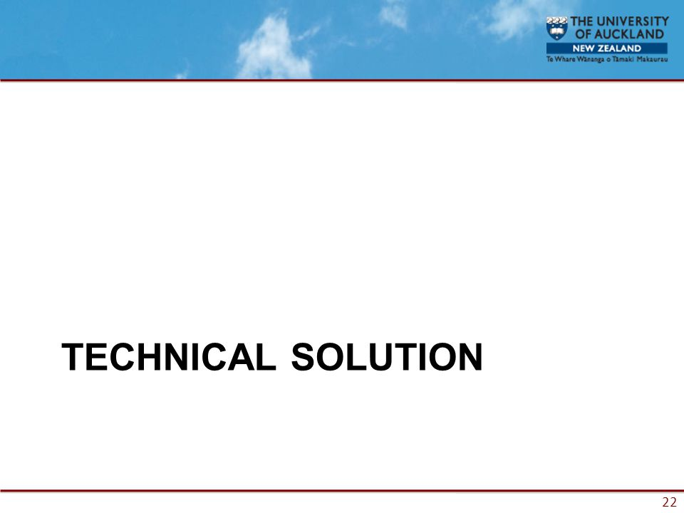 22 TECHNICAL SOLUTION