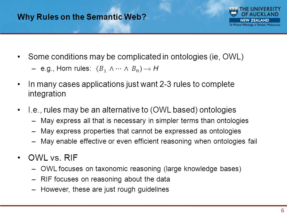 6 Why Rules on the Semantic Web?
