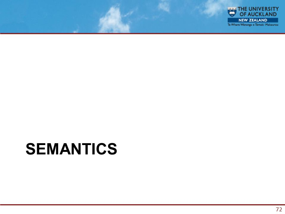 72 SEMANTICS