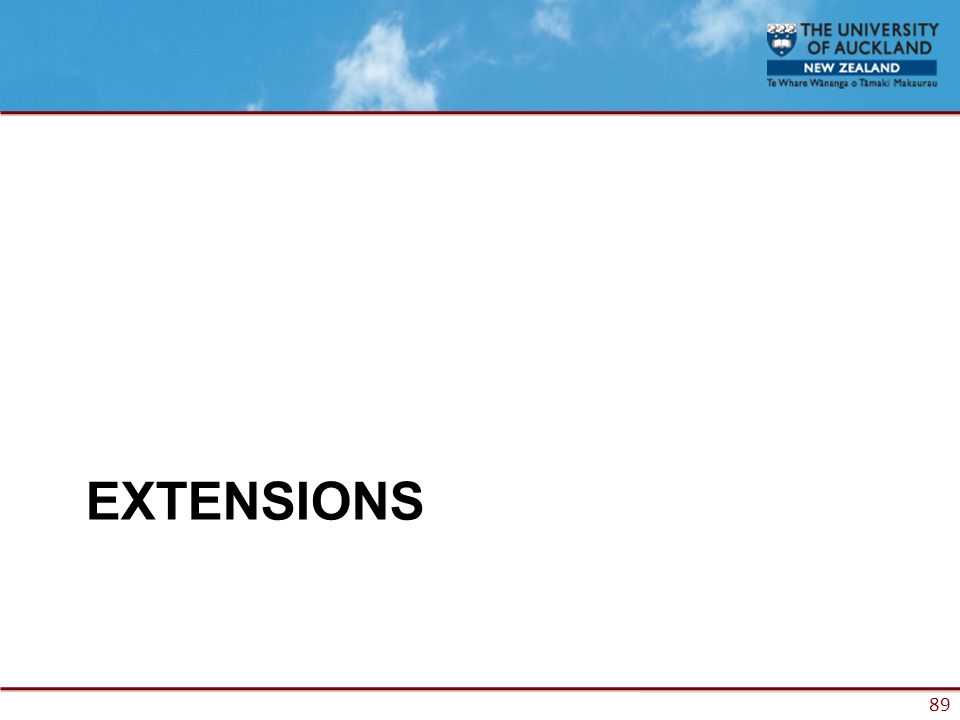 89 EXTENSIONS