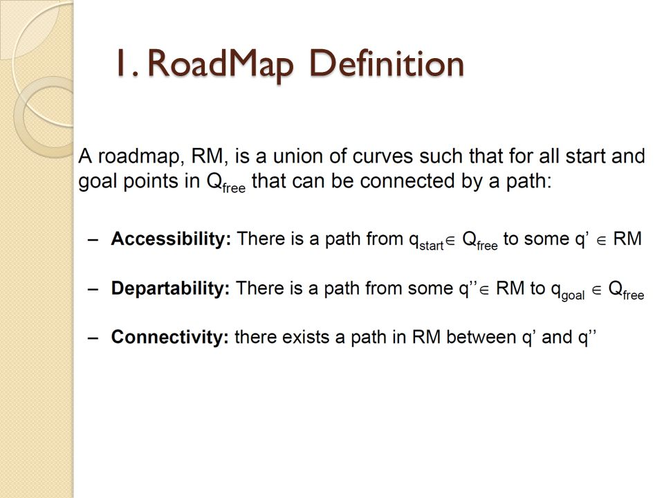 1. RoadMap Path Planning