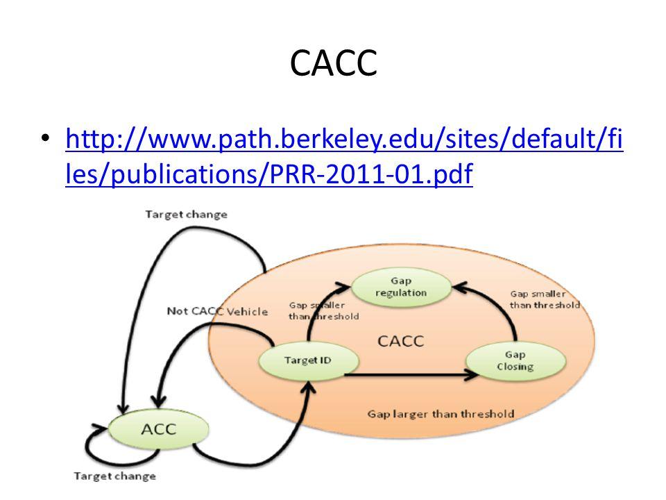 CACC http://www.path.berkeley.edu/sites/default/fi les/publications/PRR-2011-01.pdf http://www.path.berkeley.edu/sites/default/fi les/publications/PRR-2011-01.pdf