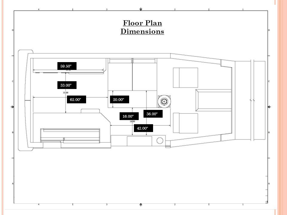 33.00 62.00 59.50 20.00 36.00 42.00 16.00 Floor Plan Dimensions