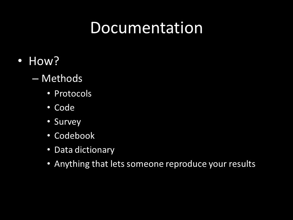 Documentation How.