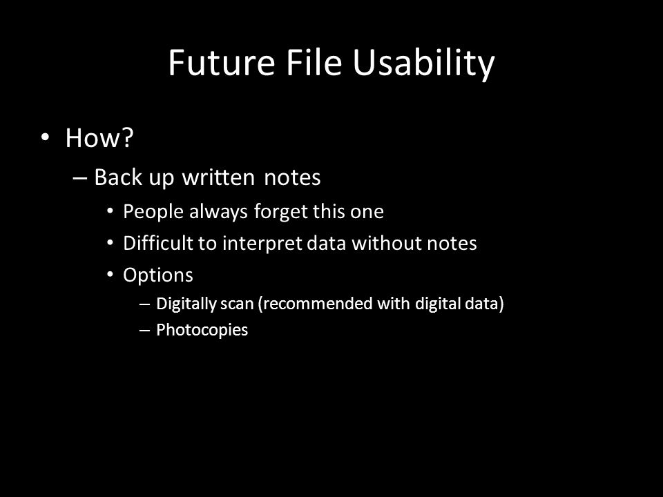 Future File Usability How.