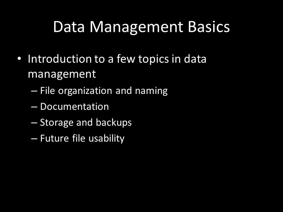 Future File Usability How.