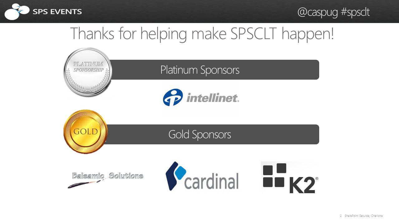 33 SharePoint Saturday Charlotte @caspug #spsclt