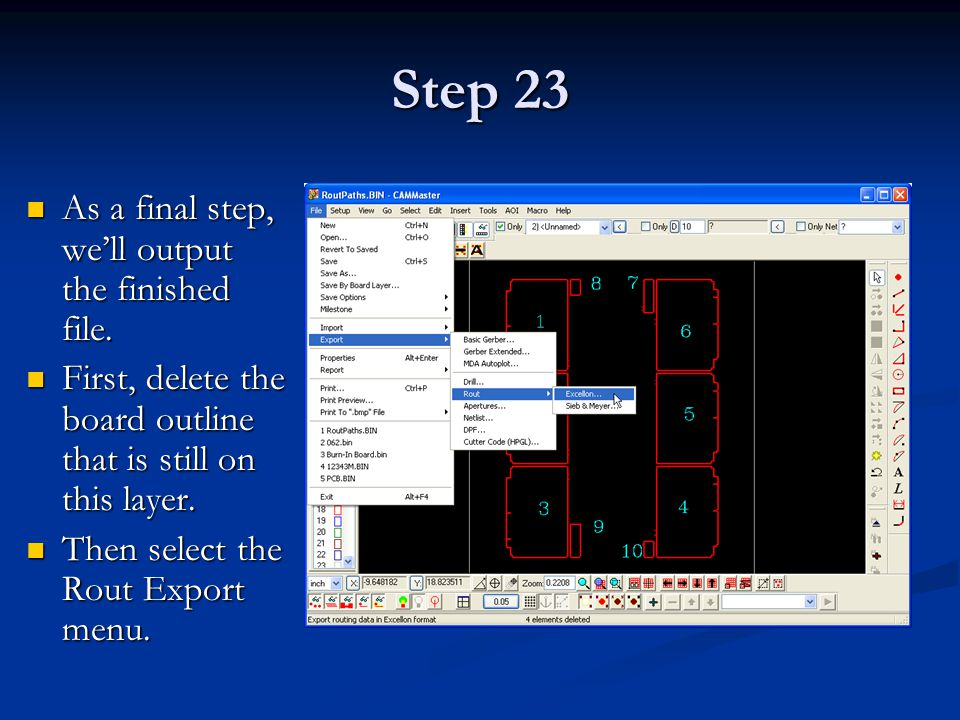 Step 23 As a final step, we'll output the finished file.