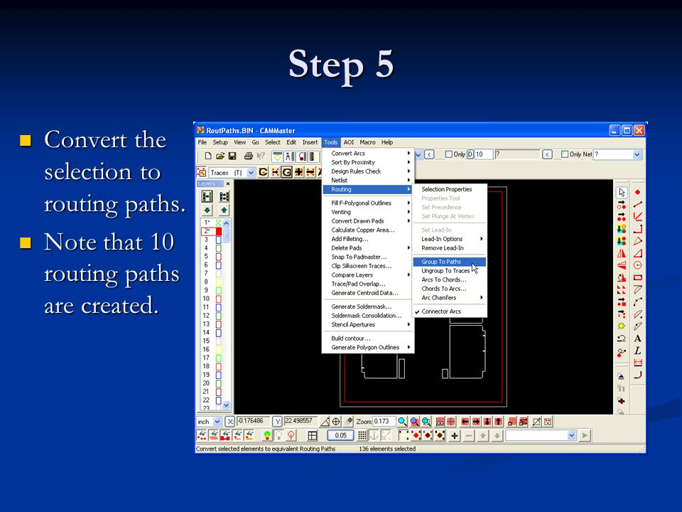 Step 25 Review the output in a text editor. Review the output in a text editor.