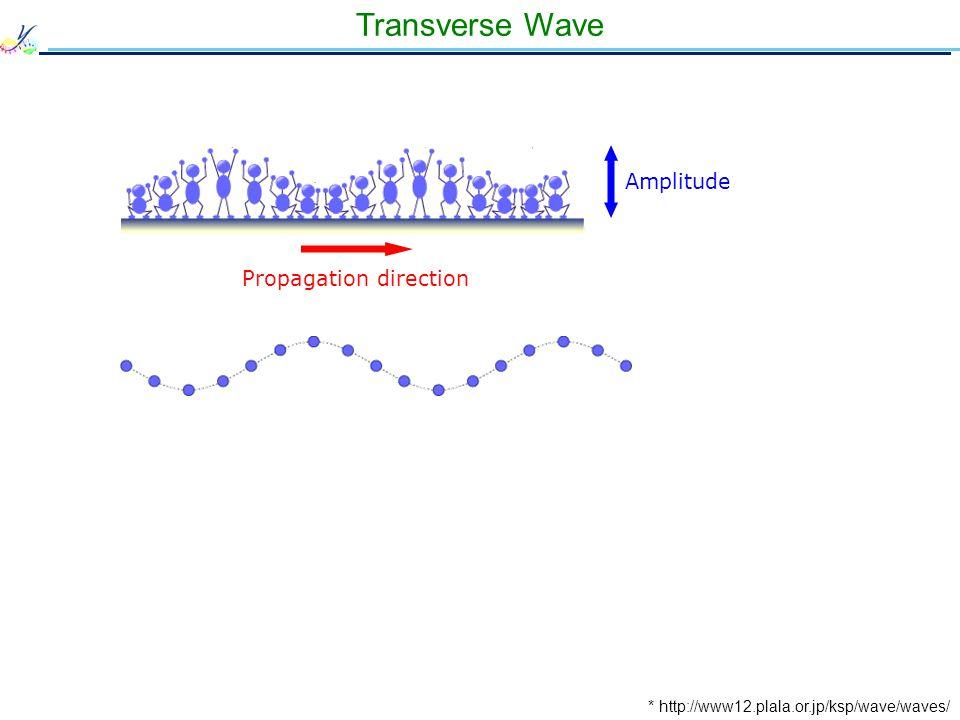 Transverse Wave * http://www12.plala.or.jp/ksp/wave/waves/ Propagation direction Amplitude