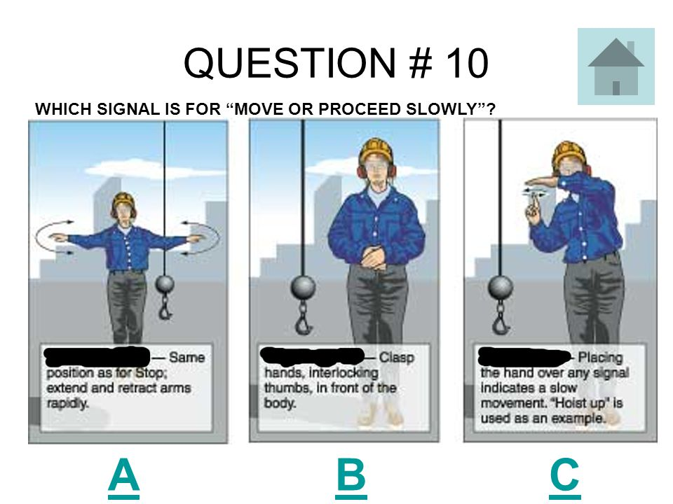 QUESTION # 9 A B C WHICH SIGNAL IS FOR DOG EVERYTHING ?