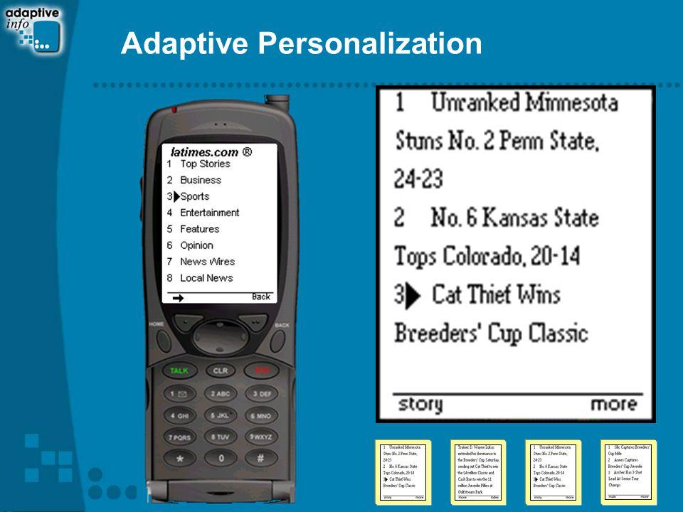 Adaptive Personalization