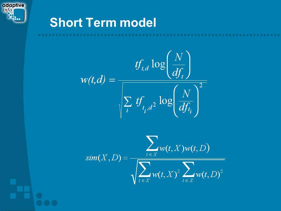 Short Term model