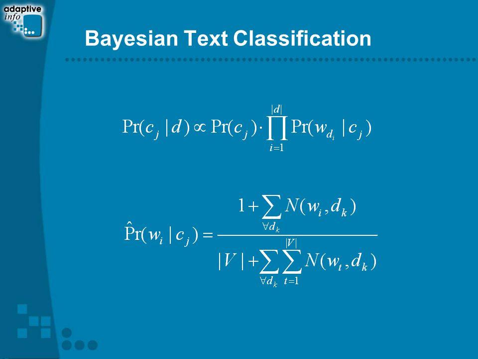 Bayesian Text Classification
