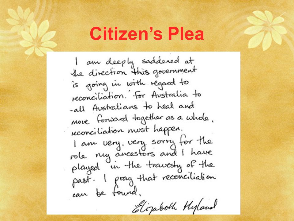 Citizen's Plea