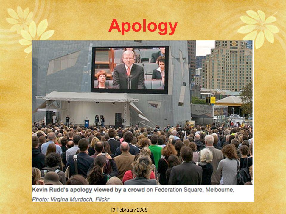 Apology 13 February 2008