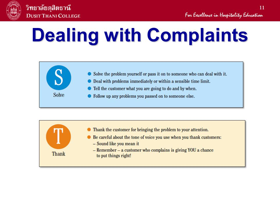 11 Dealing with Complaints