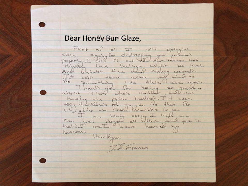Dear Honey Bun Glaze,