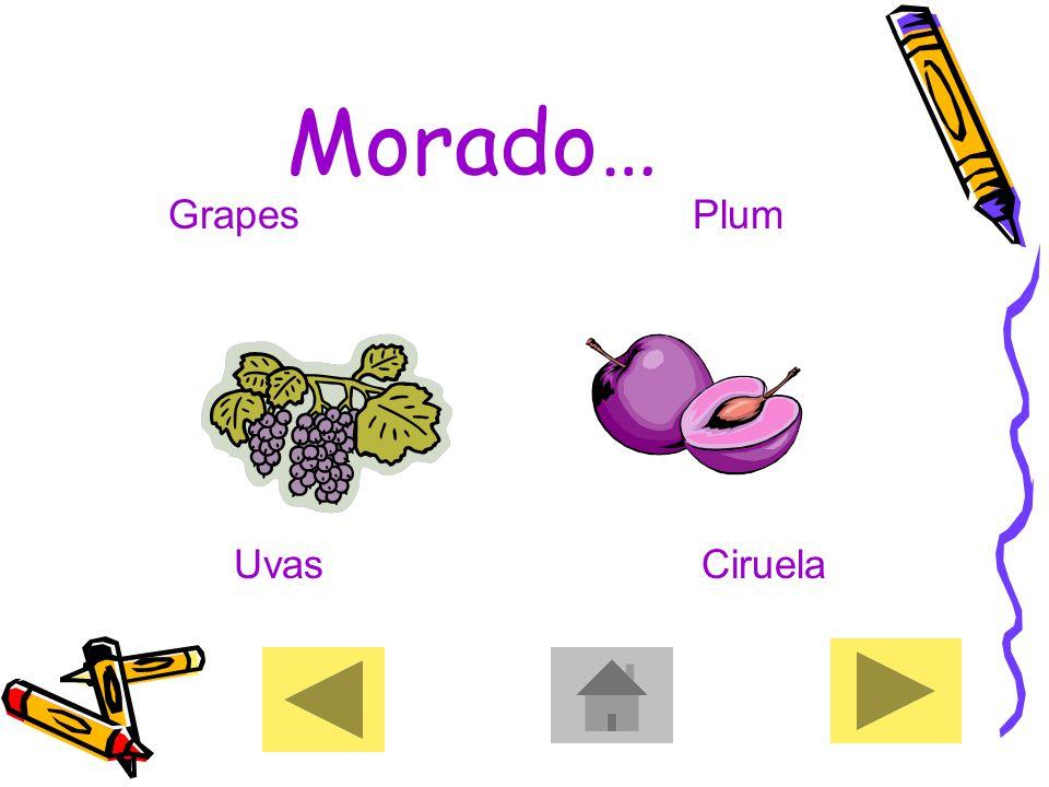 Morado… GrapesPlum UvasCiruela