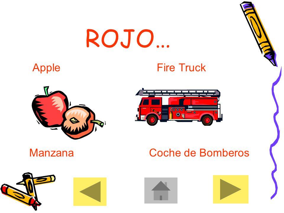 ROJO… Apple Fire Truck Manzana Coche de Bomberos