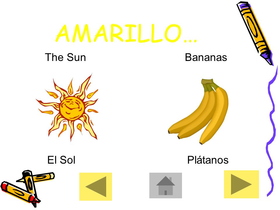AMARILLO… The SunBananas El SolPlátanos
