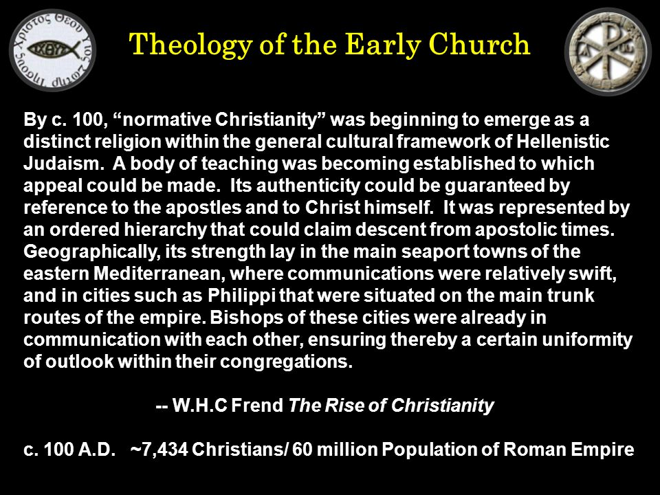 Theology of the Early Church By c.