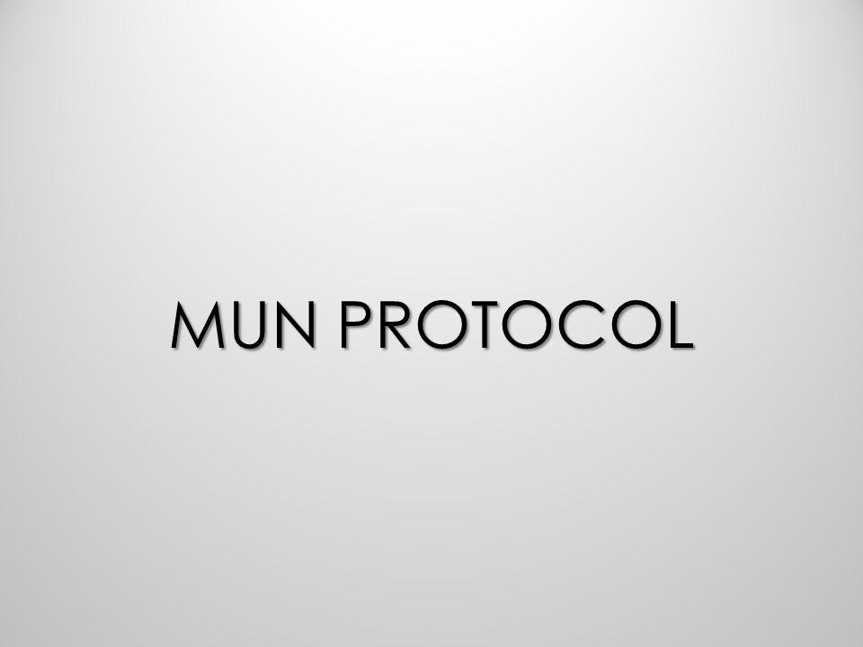 MUN PROTOCOL